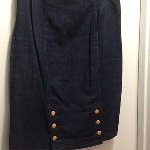 Vintage Betsy Johnson denim skirt 8